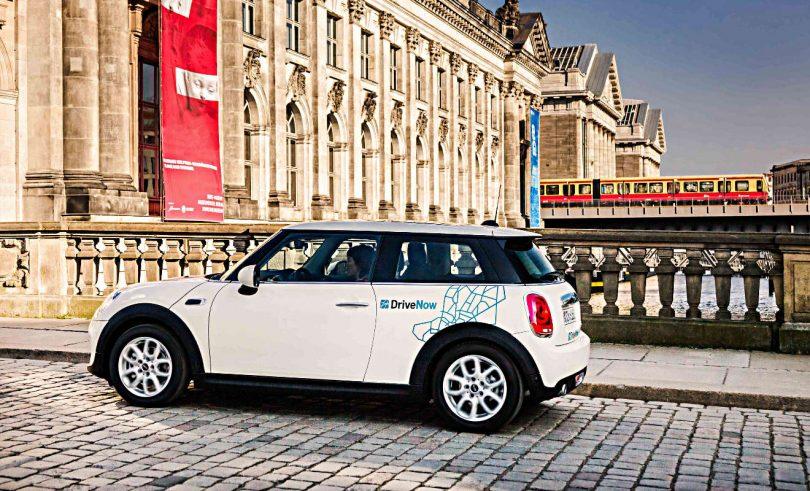 DriveNow-Fahrzeug in Berlin. Foto: DriveNow