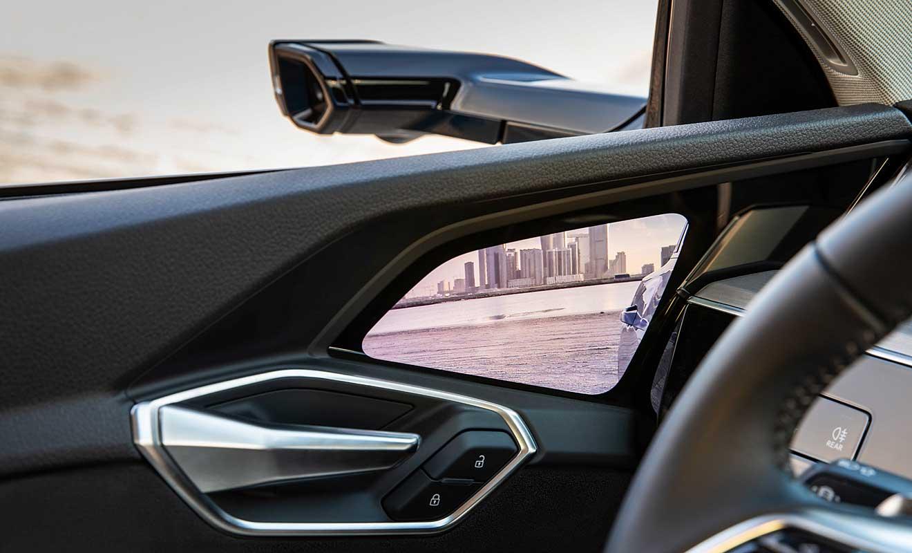 Kameras statt Rückspiegel. Foto: Audi