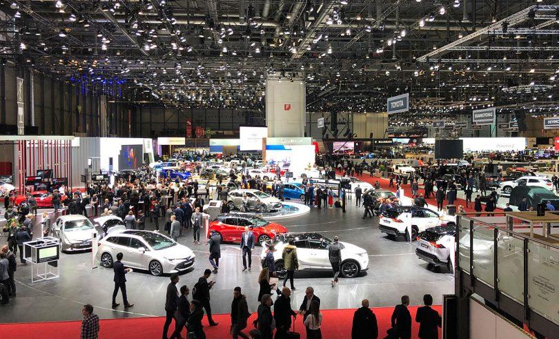 Überblick über den Autosalon Genf. Foto: SP-X