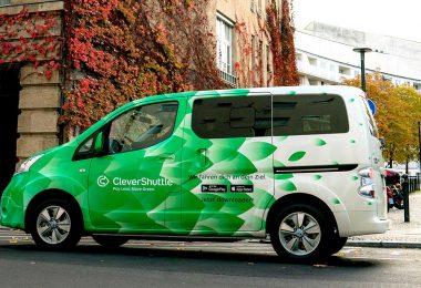 Ein Nissan e-NV 200 Evalia im Dinest von CleverShuttle. Foto: CleverShuttle